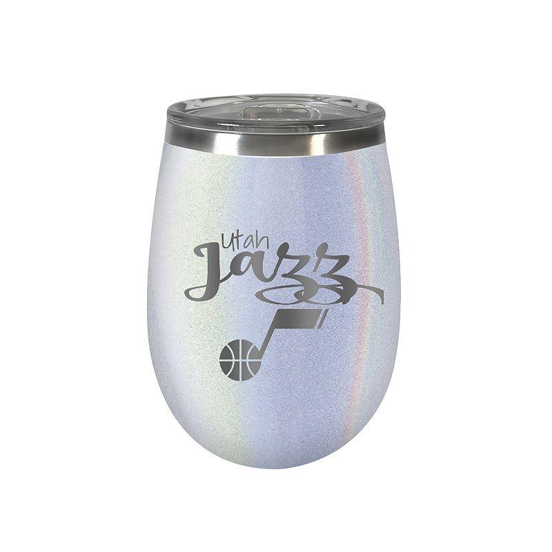 Utah Jazz 12 oz. Opal Wine Tumbler, White