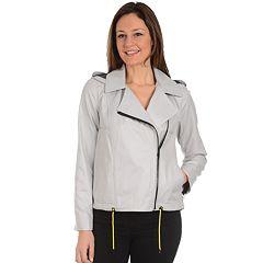 Women's Fleet Street High-Low Moto Jacket