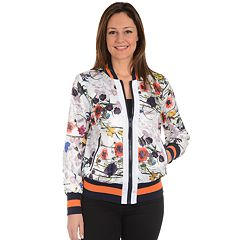 Women's Fleet Street Tropical Floral Bomber Jacket