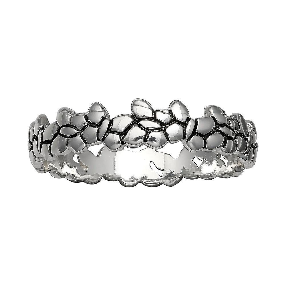PRIMROSE Sterling Silver Butterfly Band Ring