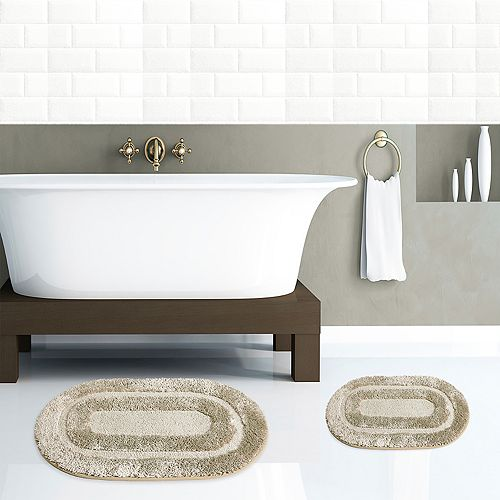 Popular Bath Pearl 2-piece Bath Rug Set
