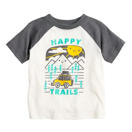 "Baby Boy Jumping Beans® ""Happy Trails"" Softest Raglan Graphic Tee"