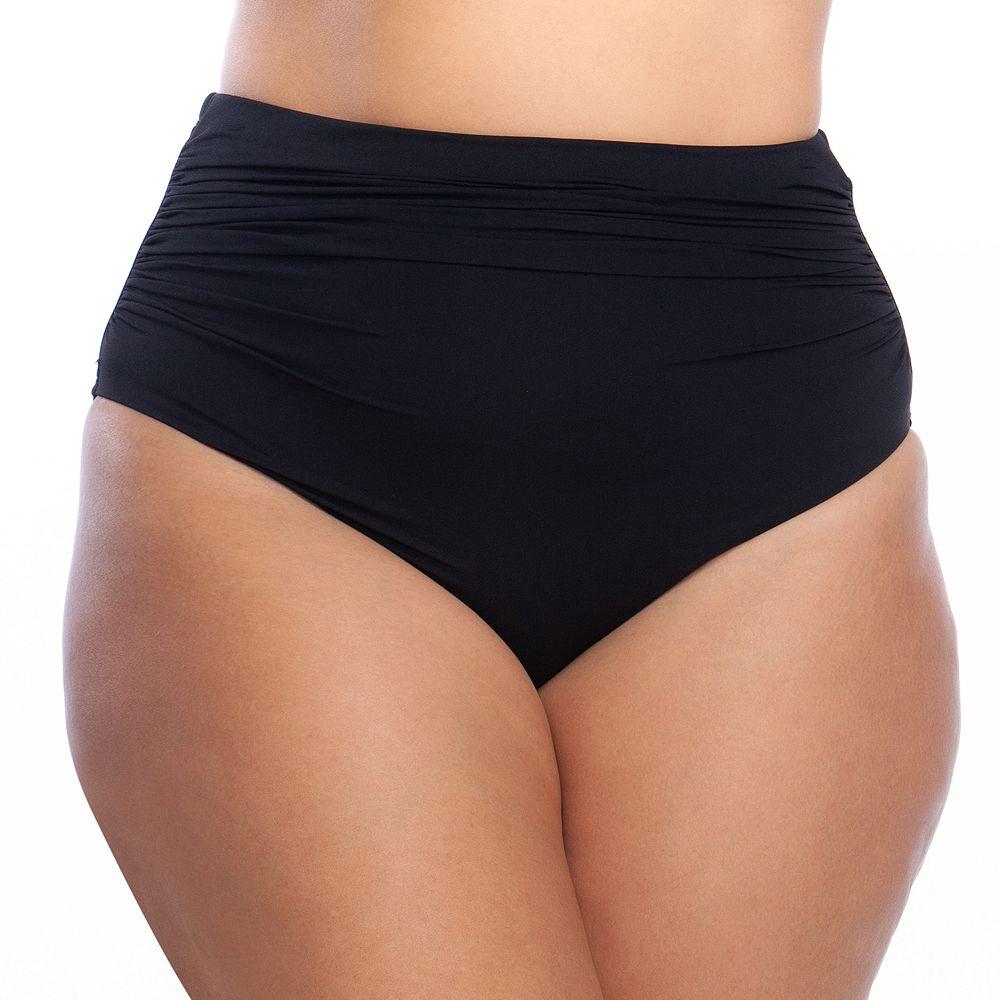 Plus Size Chaps Tummy Slimmer High-Waisted Bikini Bottoms