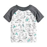 Baby Boy Jumping Beans® All Over Dinosaurs Raglan Tee