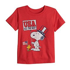 Toddler Boy Jumping Beans® Peanuts Snoopy 'USA' Graphic Tee