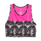 Girls 7-16 SO® Long Line Mesh Colorblock Sports Bra