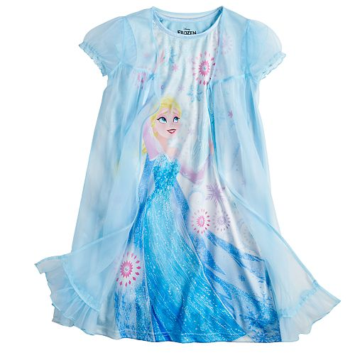 Girls 4-10 Disney's Frozen Elsa Night Gown with Robe