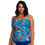 Plus Size Chaps Floral Twist Shirred Bandini
