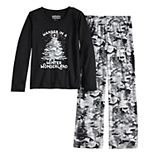 Girls 7-16 Jammies For Your Families Camo Family Tee & Pants Pajama Set