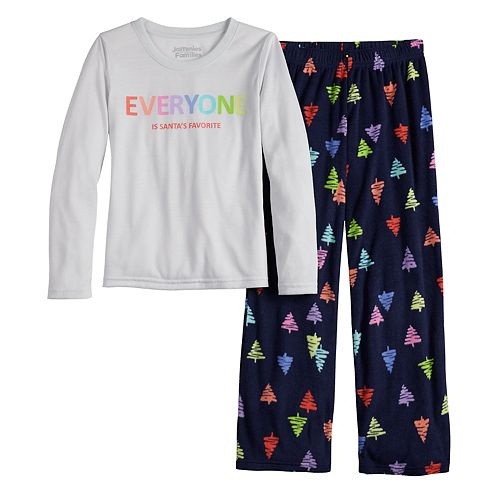Girls 7-16 Jammies For Your Families® Everyone is Santa's Fave Family Tee & Pants Pajama Set