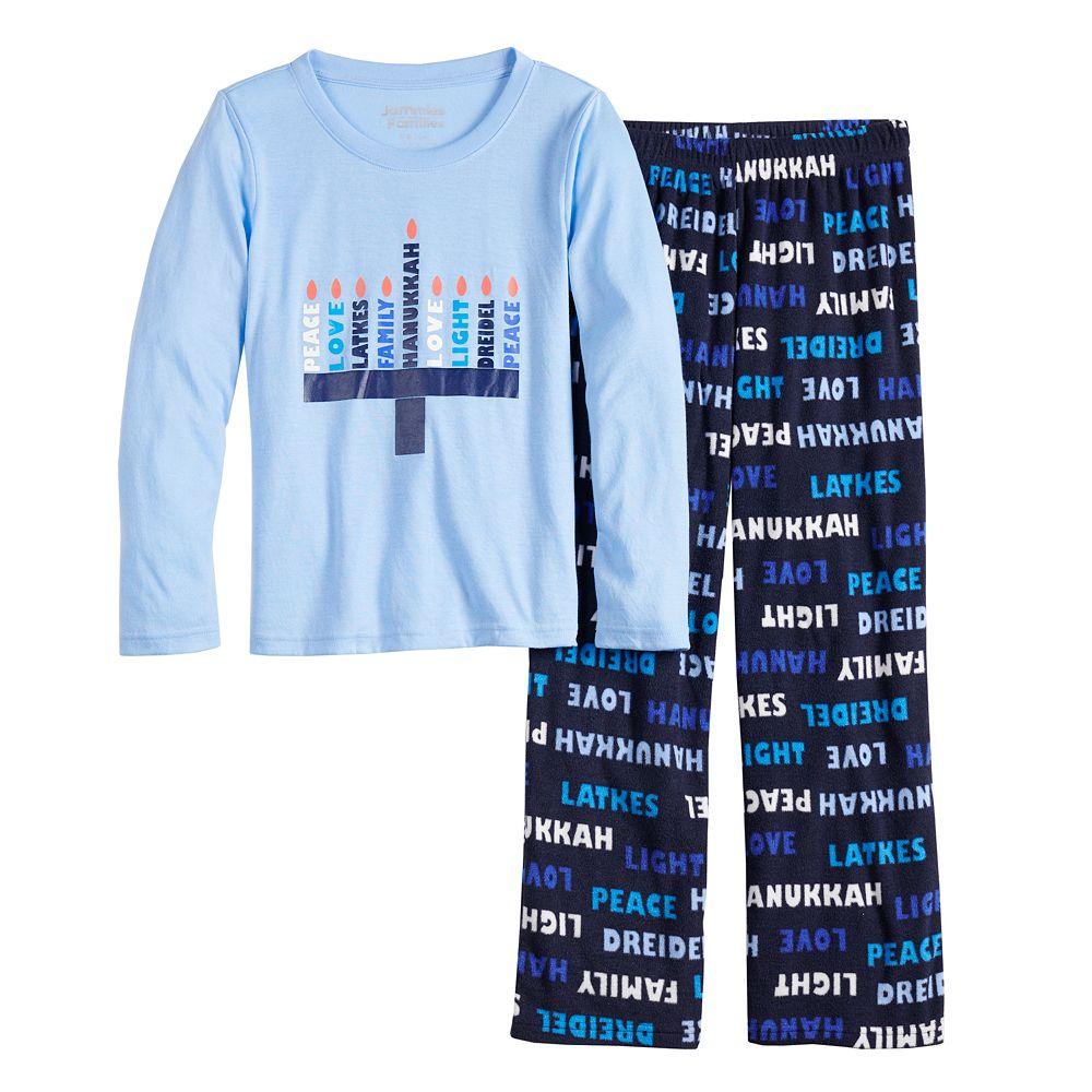Girls 7-16 Jammies For Your Families® Hanukkah Family Tee & Pants Pajama Set