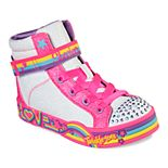 Skechers Twinkle Toes Twinkle Love Girls' Light Up High Top Shoes