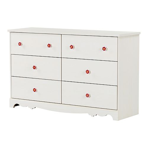 South Shore Lily Rose 6-Drawer Double Dresser