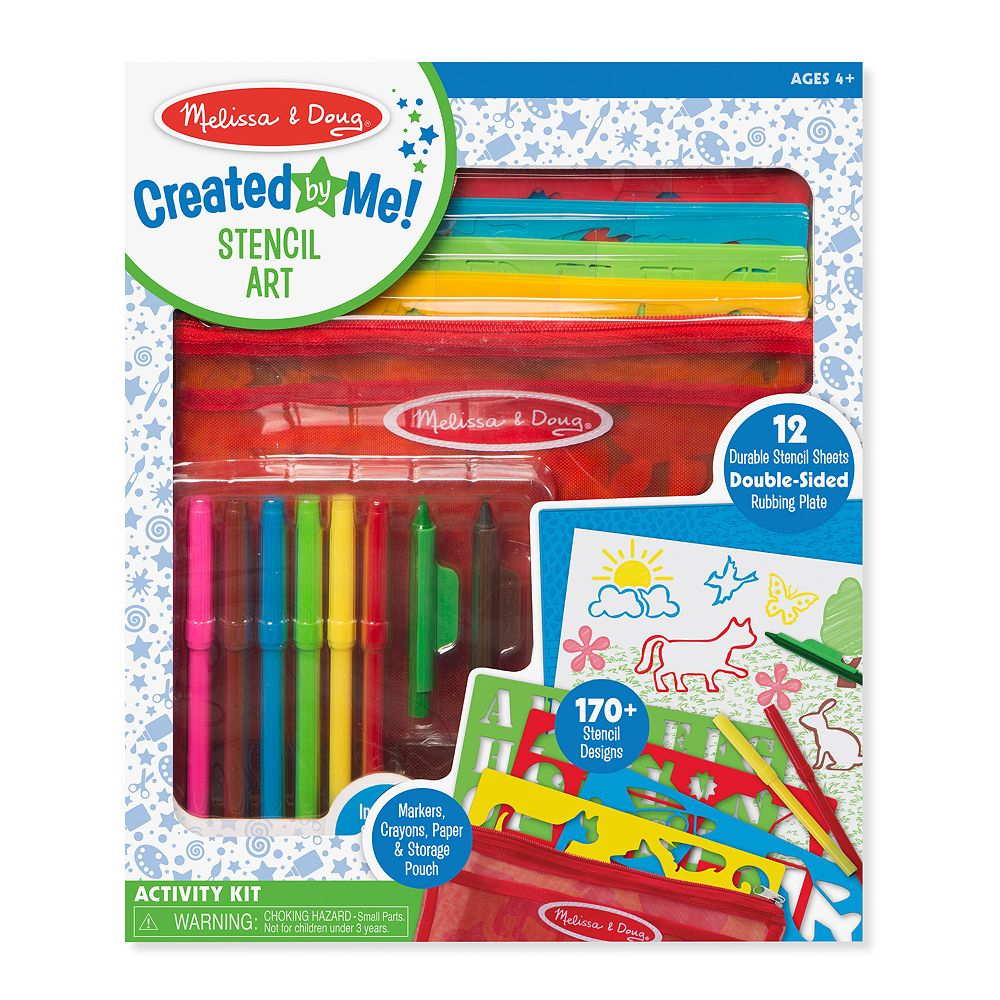 Melissa & Doug Created by Me! Stencil Art Coloring Activity Kit