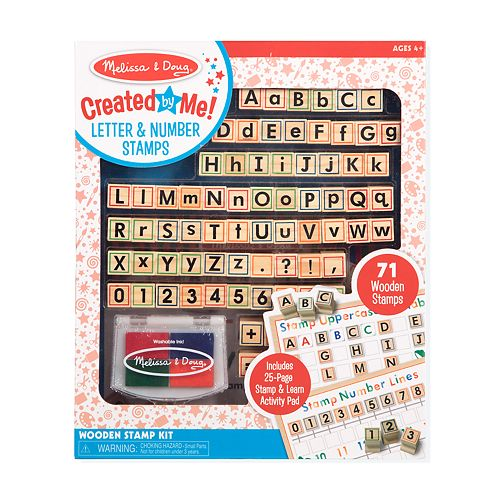 Melissa & Doug Letter and Number Wooden Stamp Kit
