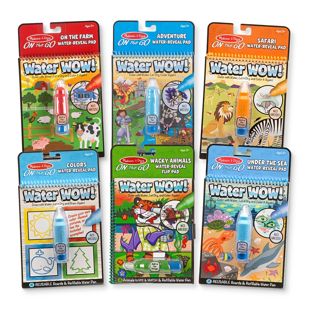 Melissa & Doug Water Wow! Travel Activity Pad 6-Pack