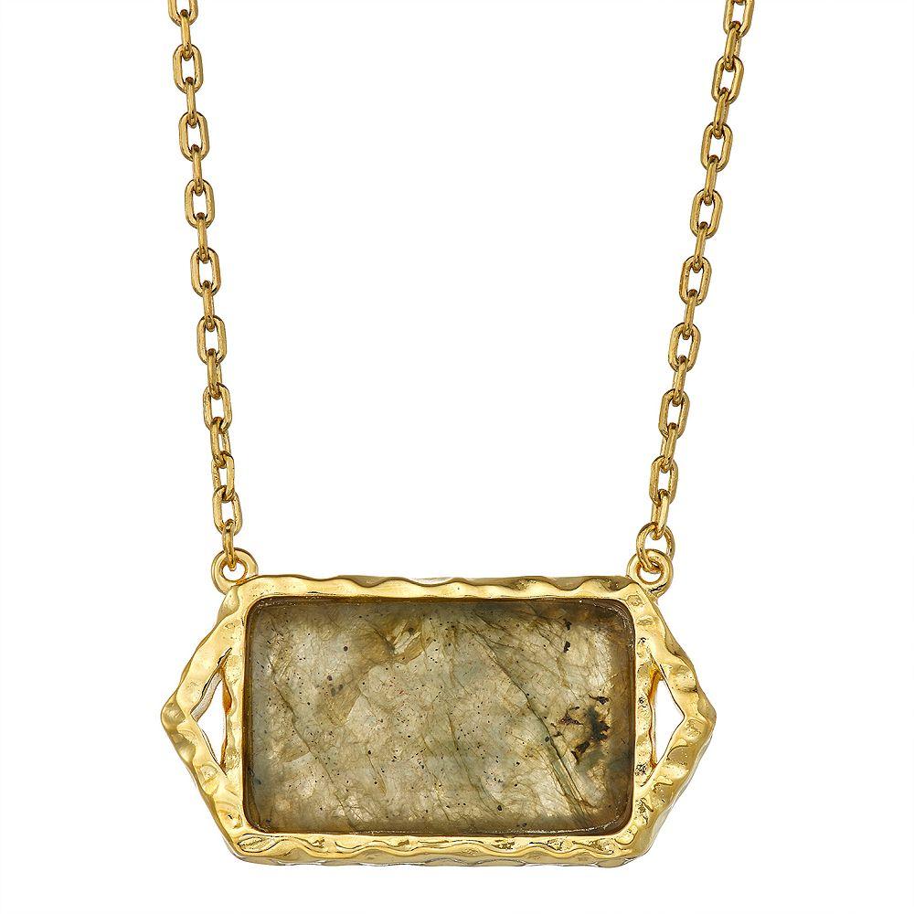 14k Gold Over Silver Labradorite Necklace