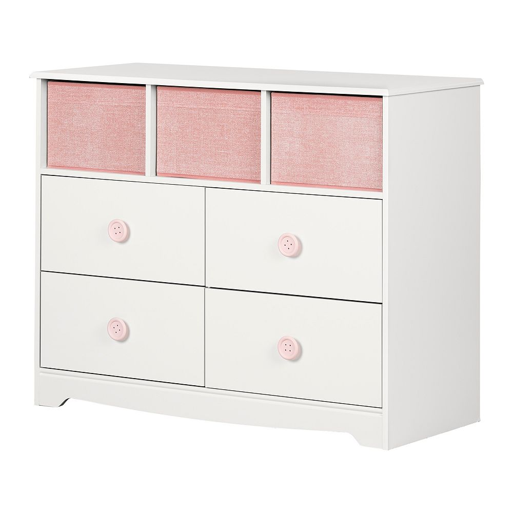 South Shore Sweet Piggy 4-Drawer Dresser with Baskets