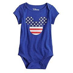 Disney's Mickey Mouse Baby Boy Americana Graphic Bodysuit by Family Fun