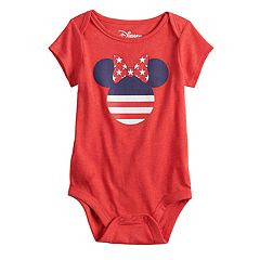Disney's Minnie Mouse Baby Girl Americana Graphic Bodysuit by Family Fun