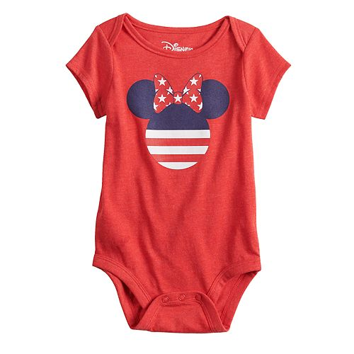 Disney's Minnie Mouse Baby Girl Americana Graphic Bodysuit by Family Fun™