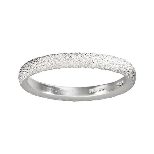 Sterling Silver Diamond Dust Ring