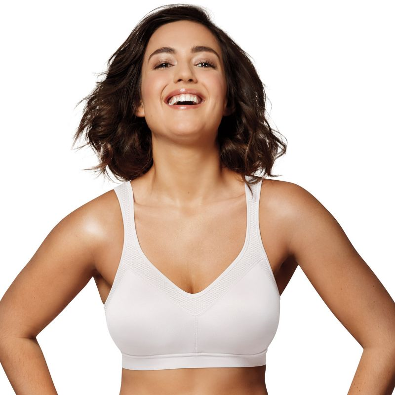 Playtex Bra: 18 Hour Active Lifestyle Full-Figure Sports Bra 4159 - Women's, Size: 36 B, White