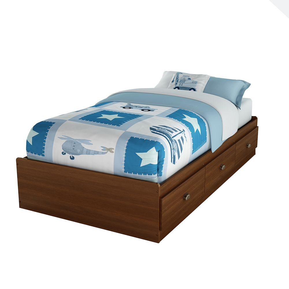 South Shore Willow Mates Bed with 3 Drawers