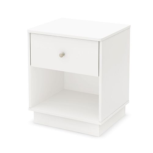 South Shore Litchi 1-Drawer Nightstand
