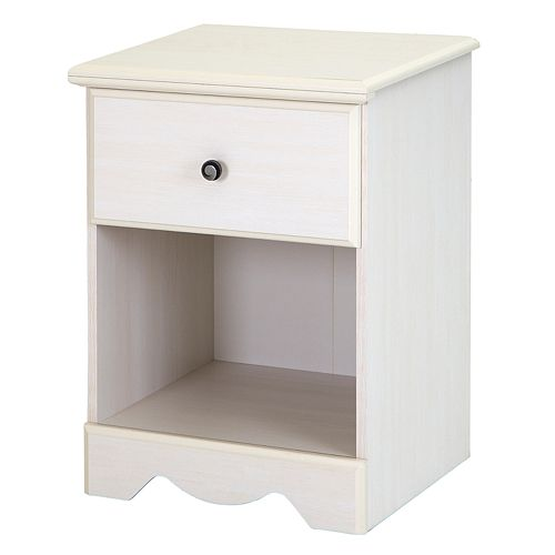 South Shore Country Poetry 1-Drawer Nightstand