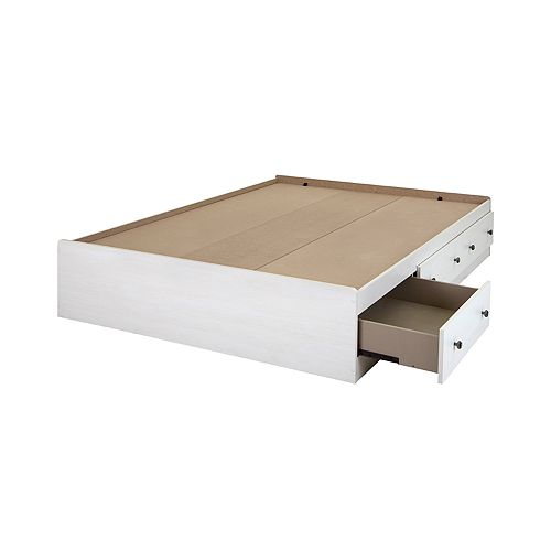 South Shore Country Poetry Mates Bed with 3 Drawers