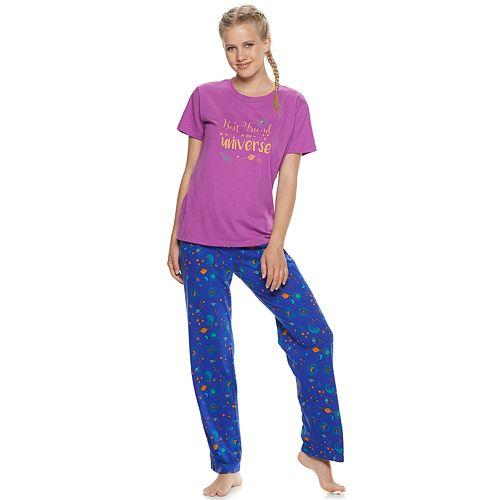 Juniors' SO® Besties Graphic Sleep Tee & Pant Pajama Set