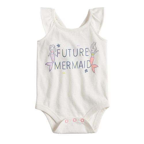Baby Girl Jumping Beans® Ruffled Graphic Romper
