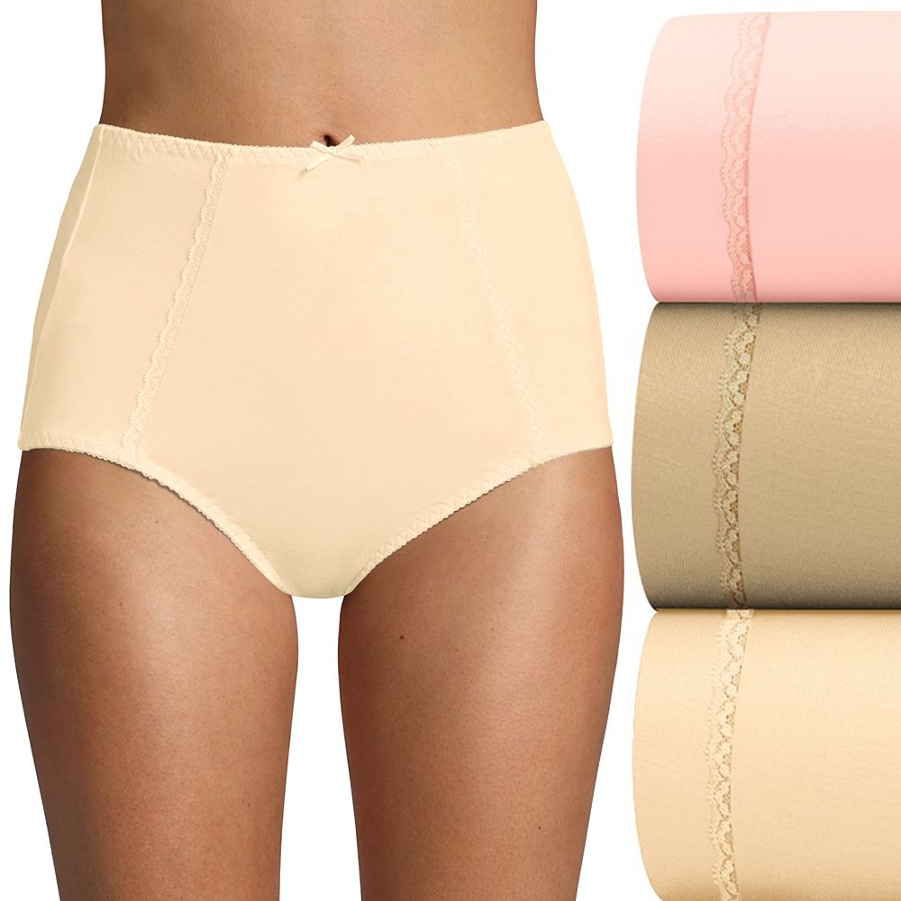 Bali® 3-Pack Double Support Stretch Cotton Brief Panty DFDCB3