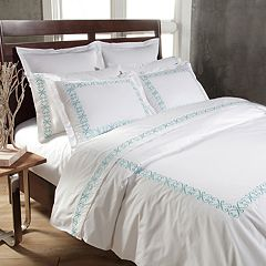Westport Home 300 Thread Count Swirl Embroidered Sheet Set