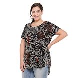 Plus Size Apt. 9® Short-Sleeve Tunic Tee