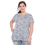 Plus Size Apt. 9® Short-Sleeve Tunic Tee