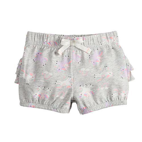 Baby Girl Jumping Beans® Ruffled-Back Bubble Shorts
