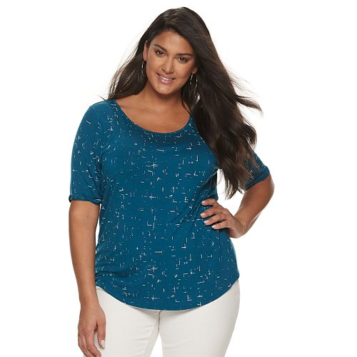 Women's Plus Size Apt. 9® Essential Elbow Sleeve Top
