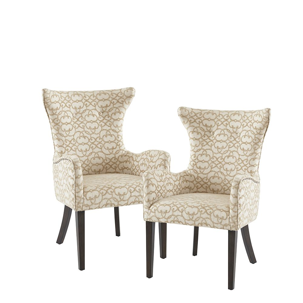 Madison Park Jenn Arm Dining Chair Set