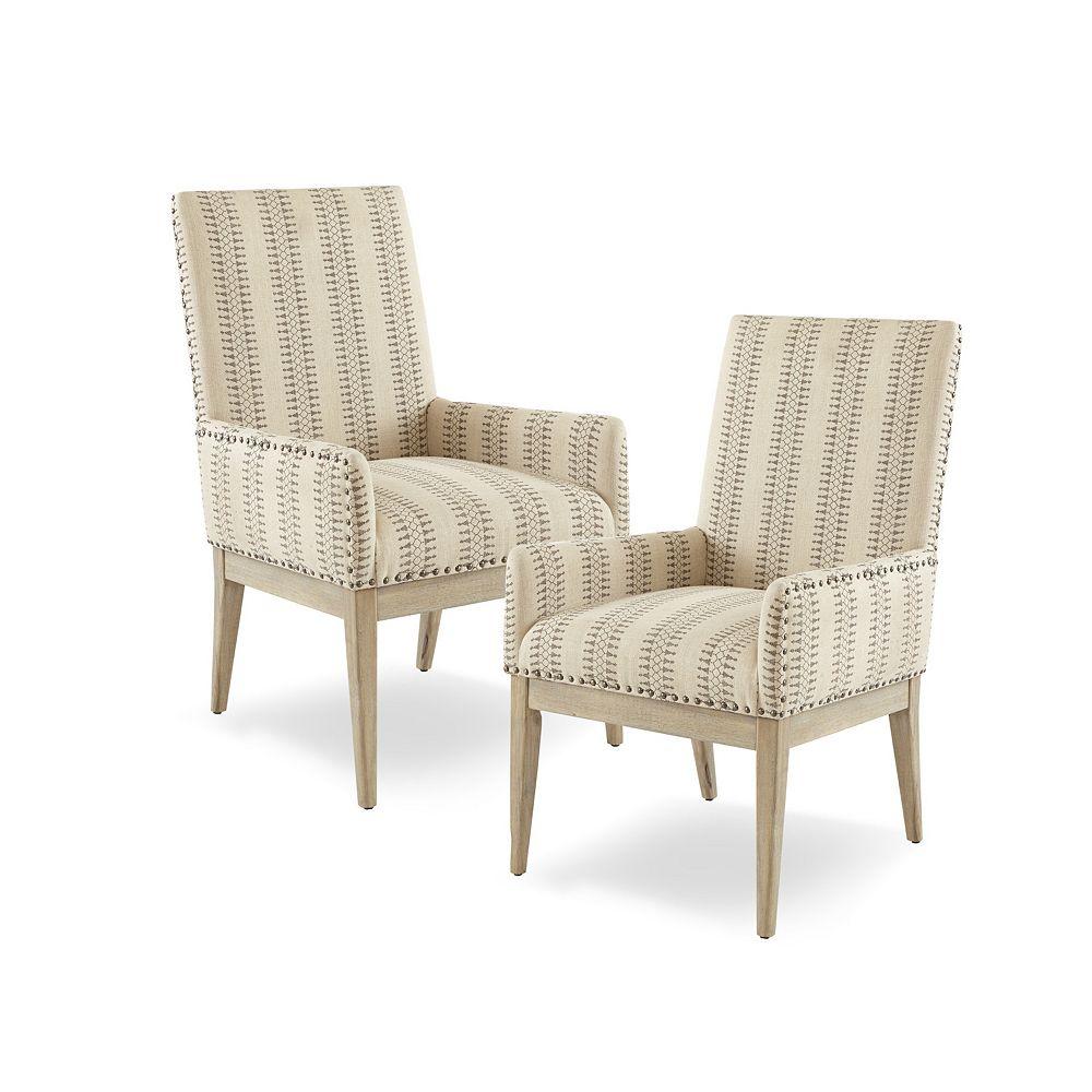 Madison Park Regina Arm Dining Chair Set