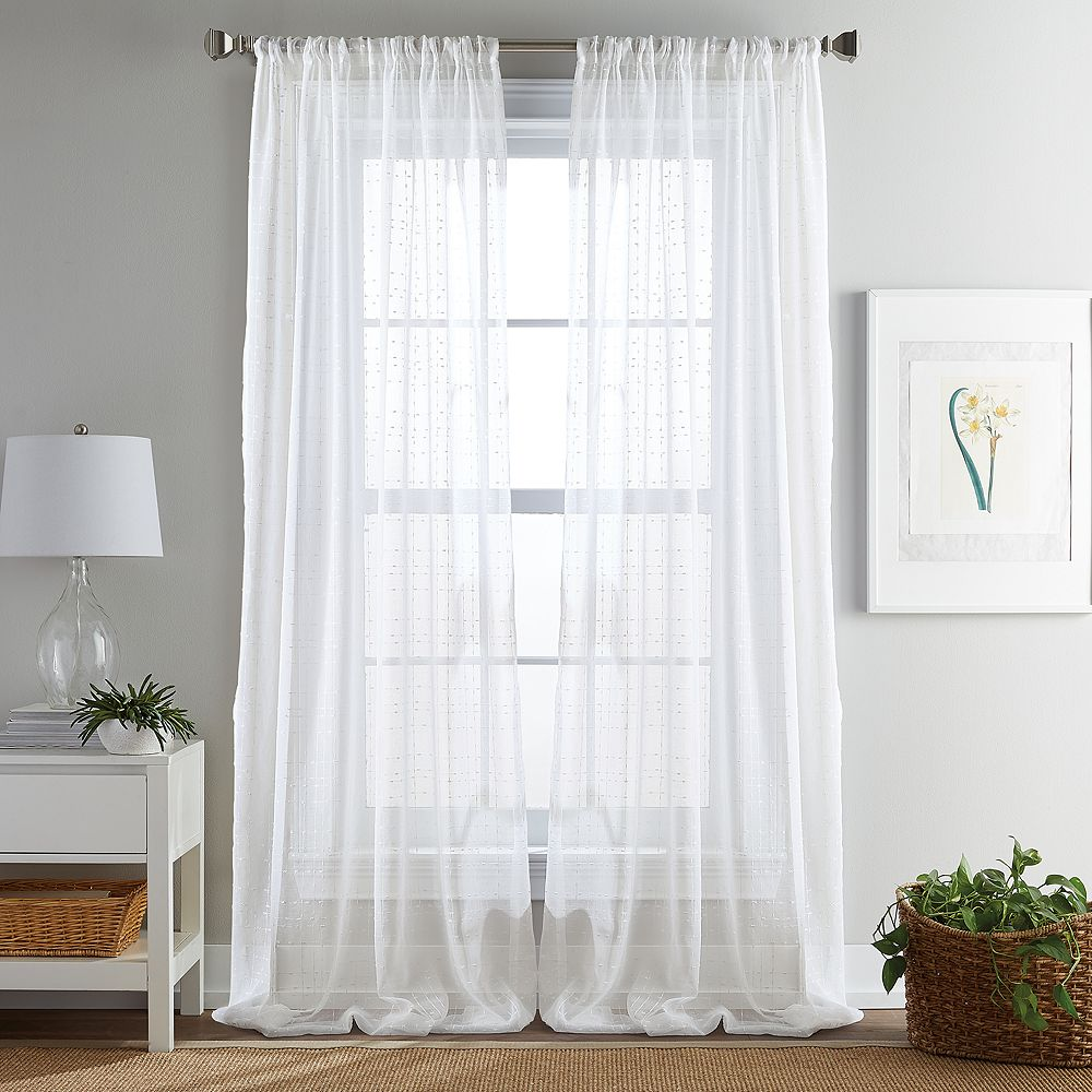 Manor Sheer Poletop Ivory Curtains