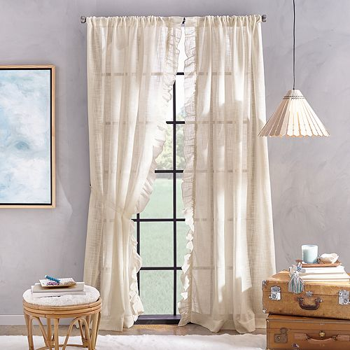 Arabella Flippable Linen Curtain Panels