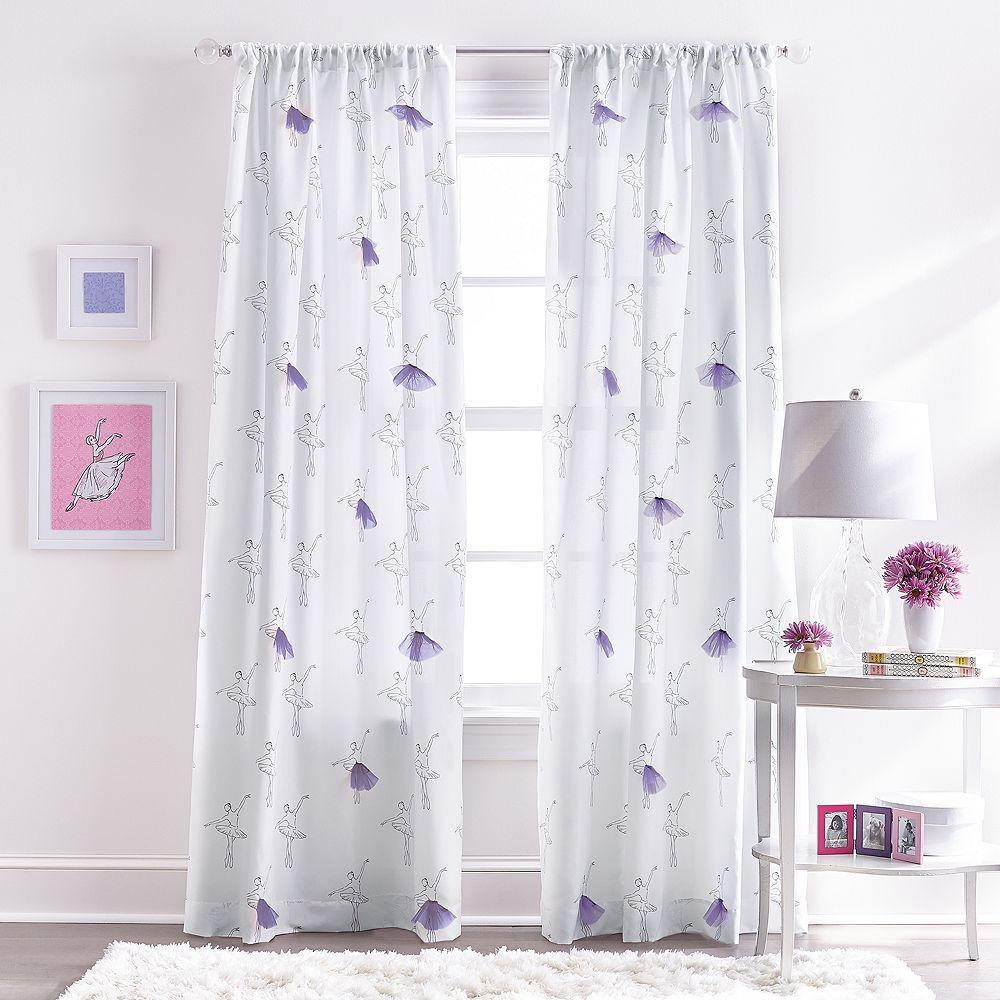 Ballerina Tulle Pole Top Curtain Panels