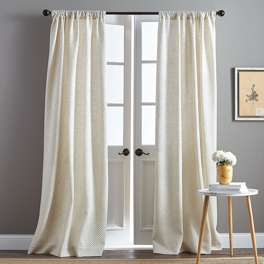 Positano Pole Top Natural Window Curtains