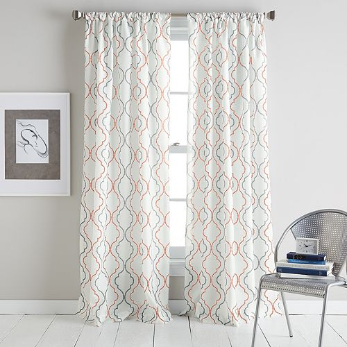 "CHF Coco 84"" Poletop Window Curtain"