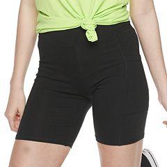 Juniors' SO® High-Waisted Long Bike Shorts
