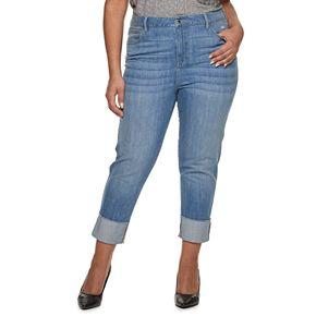 Plus Size Jennifer Lopez Midrise Boyfriend Jeans