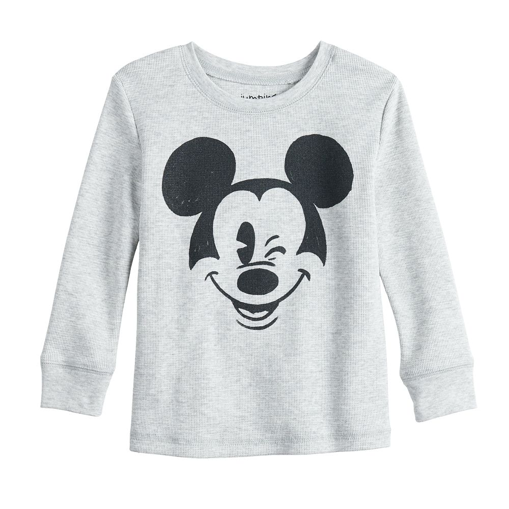 Disney's Mickey Mouse Toddler Boy Long Sleeve Thermal Crew Neck Tee By Jumping Beans®