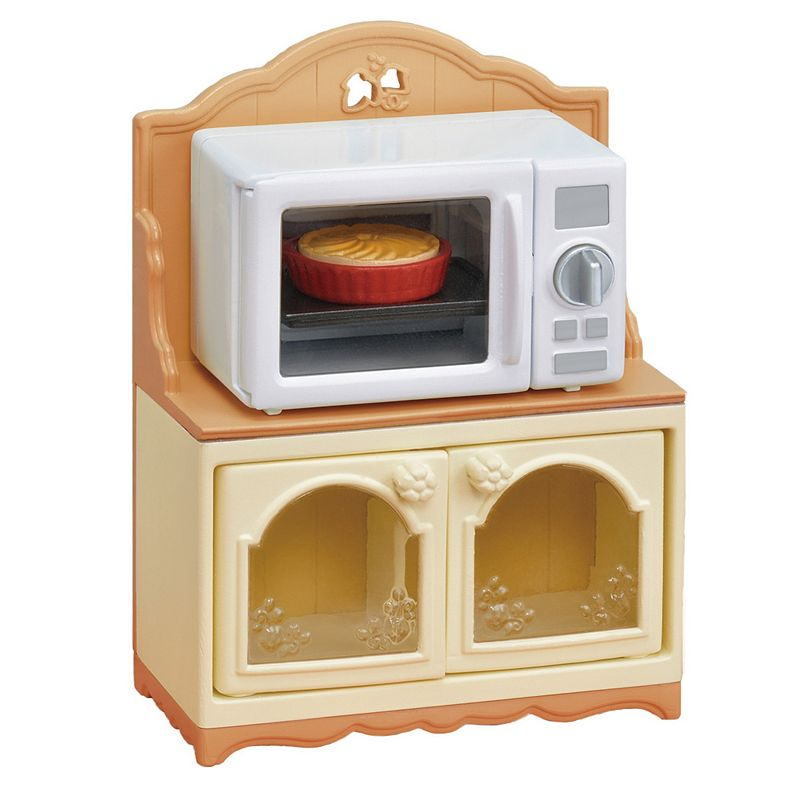 Calico Critters Microwave Cabinet Add to your Calico world with this .Calico Critters Microwave Cabinet The Calico Critters Microwave Cabinet has a microwave oven that comes in handy when cooking for your little critters! The microwave cabinet playset includes a microwave oven and designated cabinet. Turning the dial on the microwave oven turns the inside red and the cabinet acts as a storage space, allowing for storage of other accessories. WHAT'S INCLUDED Microwave Oven, Cabinet, Apple Pie, Tabletop 6.6x2.4x3.8 inches Age: 3 years & up Plastic Spot clean Imported Size: One Size. Color: Multicolor. Gender: female. Age Group: kids.